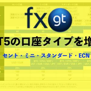FXGTがMT5の口座タイプを増加:セント口座やECN口座を追加!