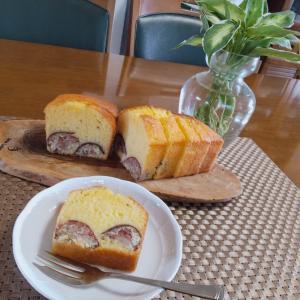 栗の渋皮煮のパウンドケーキ&水キムチ