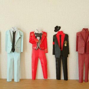 折り紙スーツ【石井竜也】【マイケル・ジャクソン】【愛の不時着・ヒョンビン】