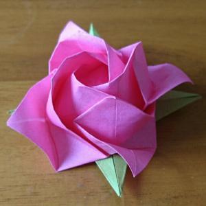 折り紙のバラ~福山ローズ~