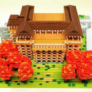 第38号 清水寺 土台と柱と屋根をつくる