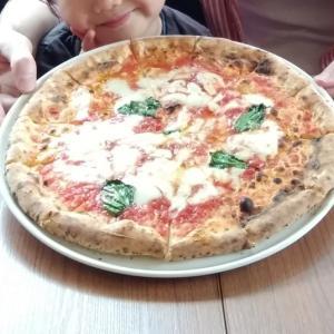 数カ月ぶり 家族で外食 お気に入りのピザ屋さん