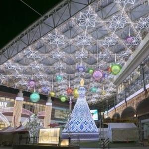 開催中11/15(金)~1/13(月) 鹿児島中央駅アミュプラザでイルミネーションが点灯!KAGOSHIMA CENTRAL ARC
