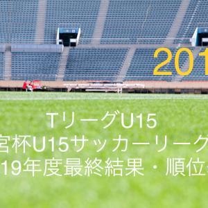TリーグU15/2019年度最終結果・順位表/高円宮杯U15 T1・T2・T3サッカーリーグ東京