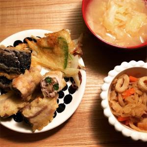豚肉の野菜巻き揚げ と オイルヒーター