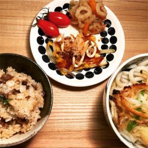 天ぷらうどん と タッチ最終回