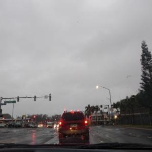 今日は、私の住んでいるミリラニは朝から雨。朝、カネオヘのバイト先に向かう途中も、雨。...