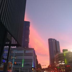 綺麗な夕焼け。#kakaako #ハワイ
