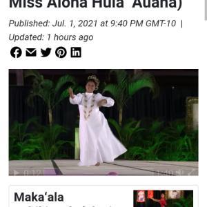 メリーモナーク2021、やってますね。(Hawaii News Now)