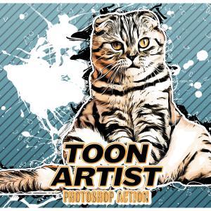 【photoshop】ボタン一つで画像をコミック風に加工する無料アクション:Toon Artist