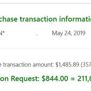 クレジットカードのポイント還元で、844ドル!