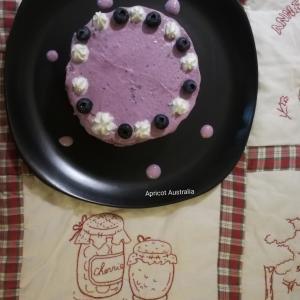 Raspberry & Blueberry Cocoa Cake