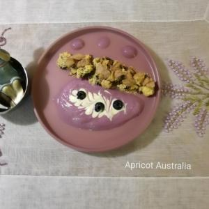 Cookies with Raspberry & Blueberry Yogurt mousse