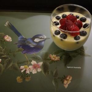 Organic Milk Custard Cream +Strawberry & Blueber