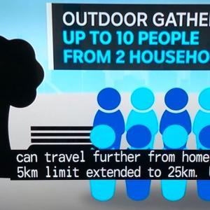 2世帯最大10名まで屋外で集まること可能に