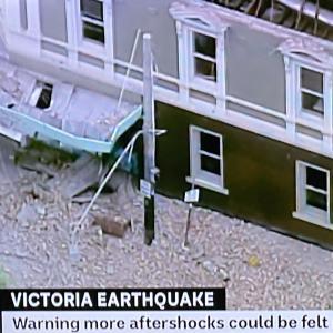 メルボルン地震で揺れました