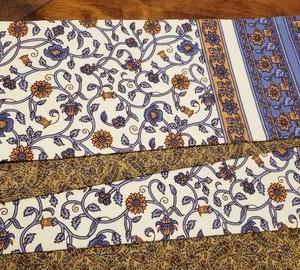 インド更紗で半幅帯、完成♪