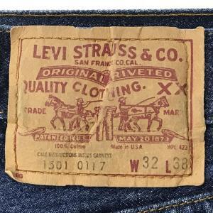 写真でみるリーバイス501レギュラー15-1980年代中頃製?製造年月未解読の内タグを持つ501