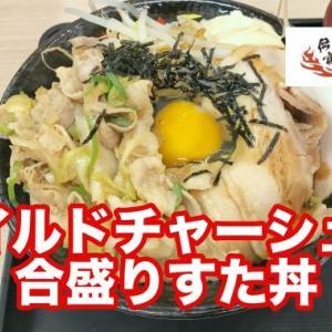 【伝説のすた丼屋】ワイルドチャーシュー合盛りすた丼 付属のモヤシとマヨで二郎の影がチラリズム