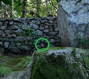 旧竹林寺 ハート型の石?