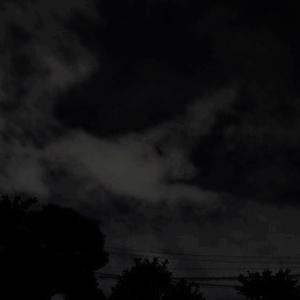ISSは見えませんでしたが、雲が・・・