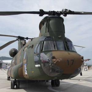 自衛隊のヘリコプター