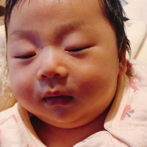 1m   乳腺炎かも。。なかなか落ち着かない母乳育児