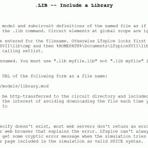 LTspice-ドットコマンド「.lib/.include」(ファイル読み込み)の使い方