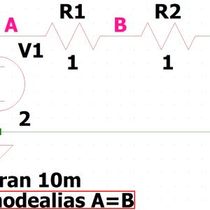 LTspice-ドットコマンド「.nodealias」(ノード間ショート)の使い方