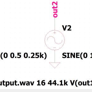 LTspice-ドットコマンド「.wave」(WAVファイル出力)の使い方
