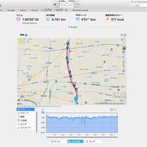 1時間走りました!