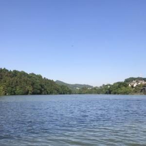 濁りの中の相模湖釣行、秋山川を調査してきました