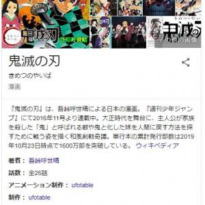大人気漫画「鬼滅の刃」もはや日本経済の柱と話題に!! 映画は歴代1位発進、東宝株価が高値を更新する