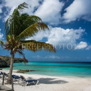 夏のビ-チ海と空の風景画像