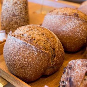 古代麦のパン、古代麦のオーガニックチョコナッツブレット焼き上がっています(2019.11.21)