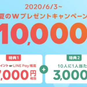 【LINEモバイル】LINEPay残高7,000円+3,000円相当プレゼントキャンペーン開催
