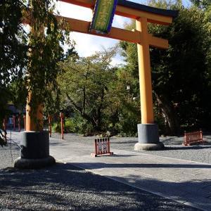 桜の名所の秋…平野神社