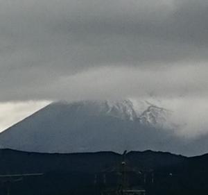 今日の富士山と私の節約(食費)です