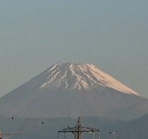 今日の富士山と人を励ますって難しい!