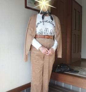 暖かコーデユロイのワイドパンツを履いてみました