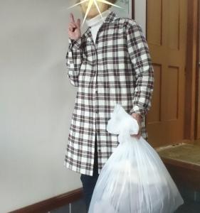 11月7日今日の富士山と防災、ゴミ捨て用の上着の衣替えです