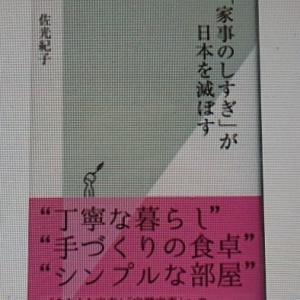 """""""家事のしすぎが日本を滅ぼす"""" を手にして"""