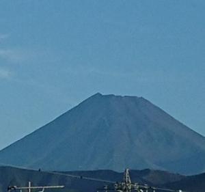 9月11日 6・00頃 今朝の富士山です