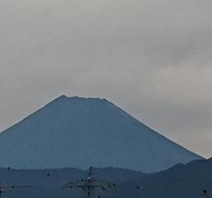 9月21日 今朝の富士山です