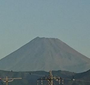 9月22日 今朝の富士山です