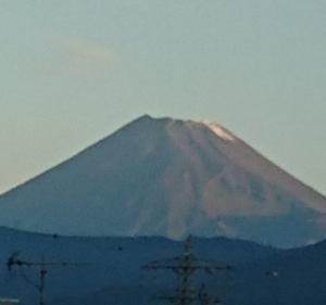 """今日の富士山と 初雪だ """"運""""は後払い"""