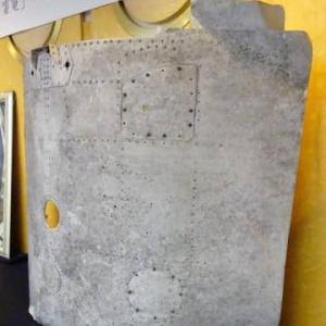 戦闘機「雷電」外板を寄贈 座間、大型部品発見は異例