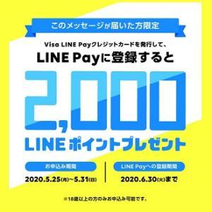 【スクショ大量】LINE Pay Visaクレジットカードを申し込んでみた