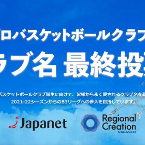 【長崎】長崎初のプロバスケットクラブの名称最終候補3案が決定