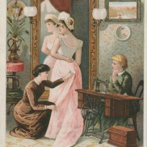ミシンと女性:広告やパンフレットにみるイメージの形成